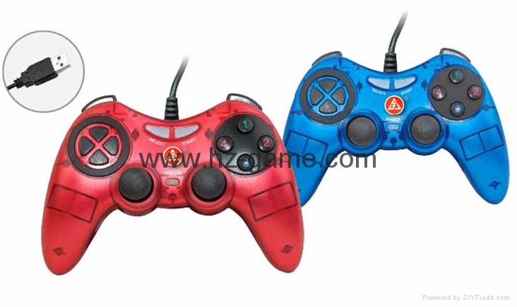PS2有線震動手柄pc usb電腦 雙馬達震動 PS2單震動遊戲手柄 14