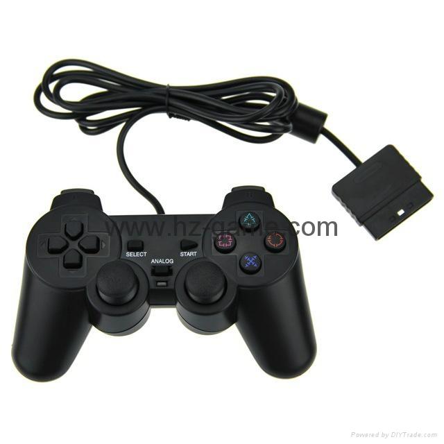 PS2有线震动手柄pc usb电脑 双马达震动 PS2单震动游戏手柄 2
