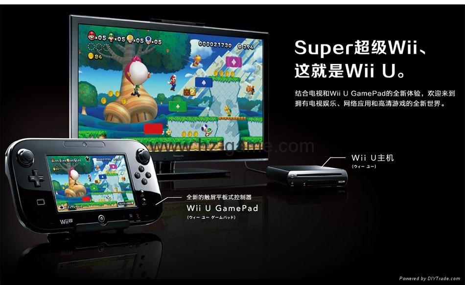 WiiU游戏机 wii游戏机主机 日版美版32G will u感应互动游戏机 6