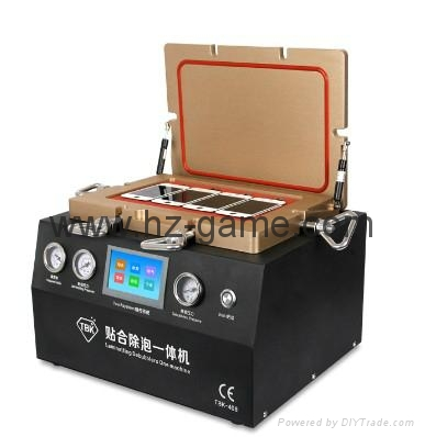 New 2in1 AK OCA Vacuum Laminating Machine Vacuum pump and Air Compressor 7