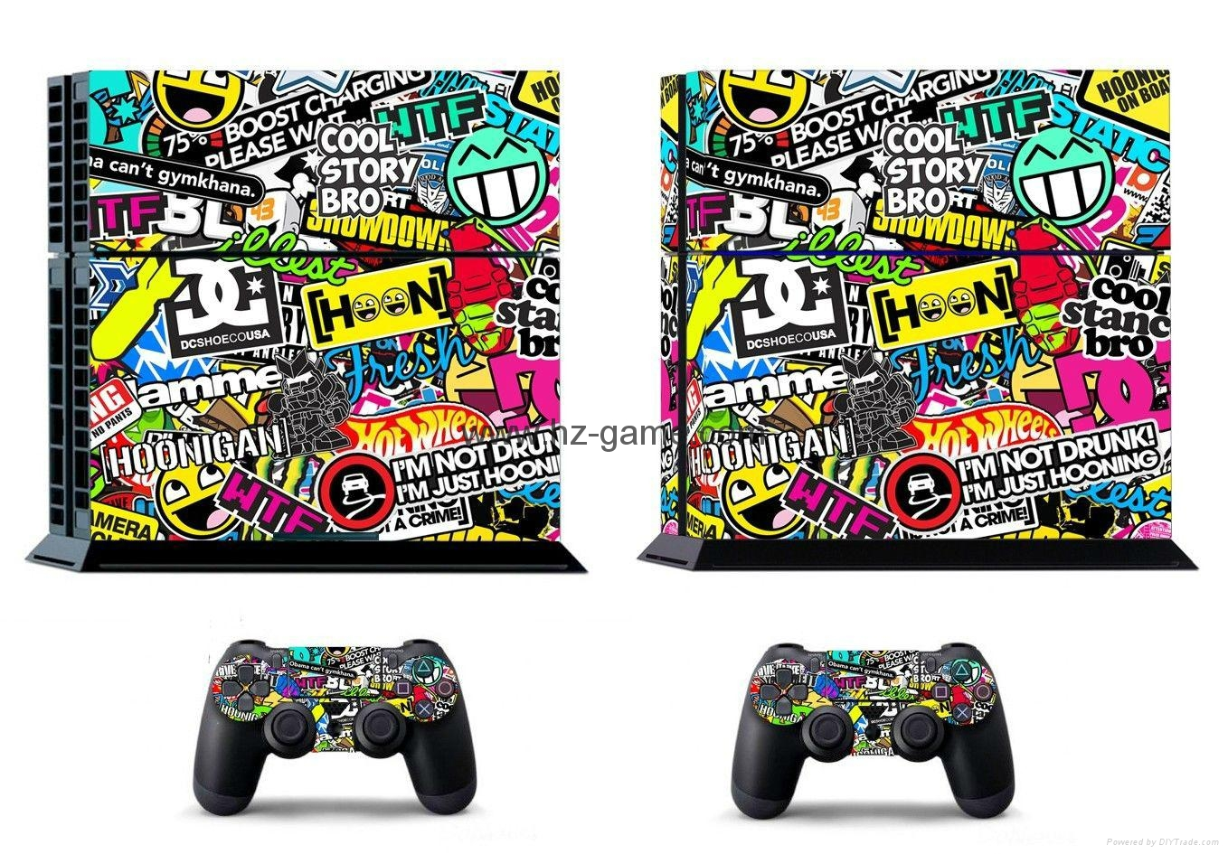 PS4 console Skin Sticker,ps4 Controllers Skins Cover,led light bar sticker 10
