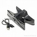LED Dual USB Charging Cradle Docking StationGaming Controller PS4 Pro Slim 12