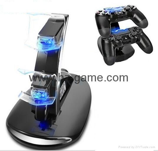LED Dual USB Charging Cradle Docking StationGaming Controller PS4 Pro Slim 11