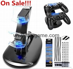 ps4 LED Dual USB Charging Dock Cradle Stand,ps4 cooling fan,ps4 controller shell