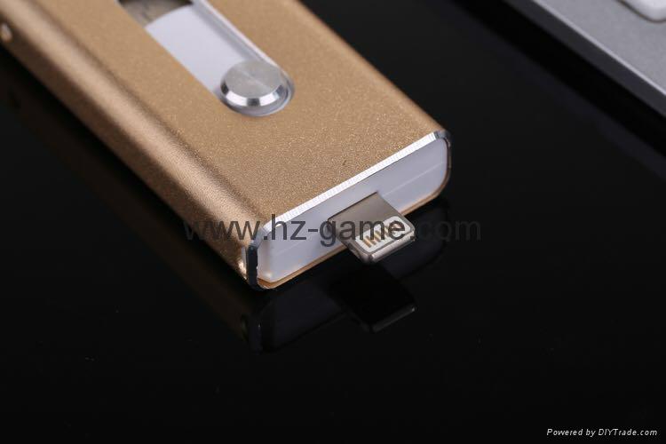 推拉式蘋果手機U盤32g iphone手機U盤16g otg蘋果U盤64g ipad-U盤 4