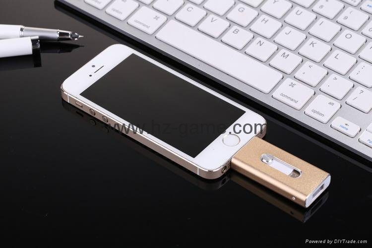 推拉式蘋果手機U盤32g iphone手機U盤16g otg蘋果U盤64g ipad-U盤 1