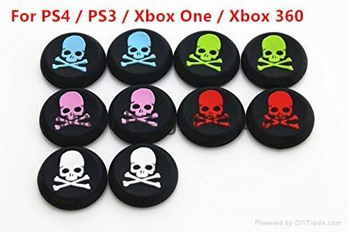 PS3/PS4/XBOX360/ONE遊戲手柄搖桿帽磨菇頭保護套按鍵硅膠帽 1