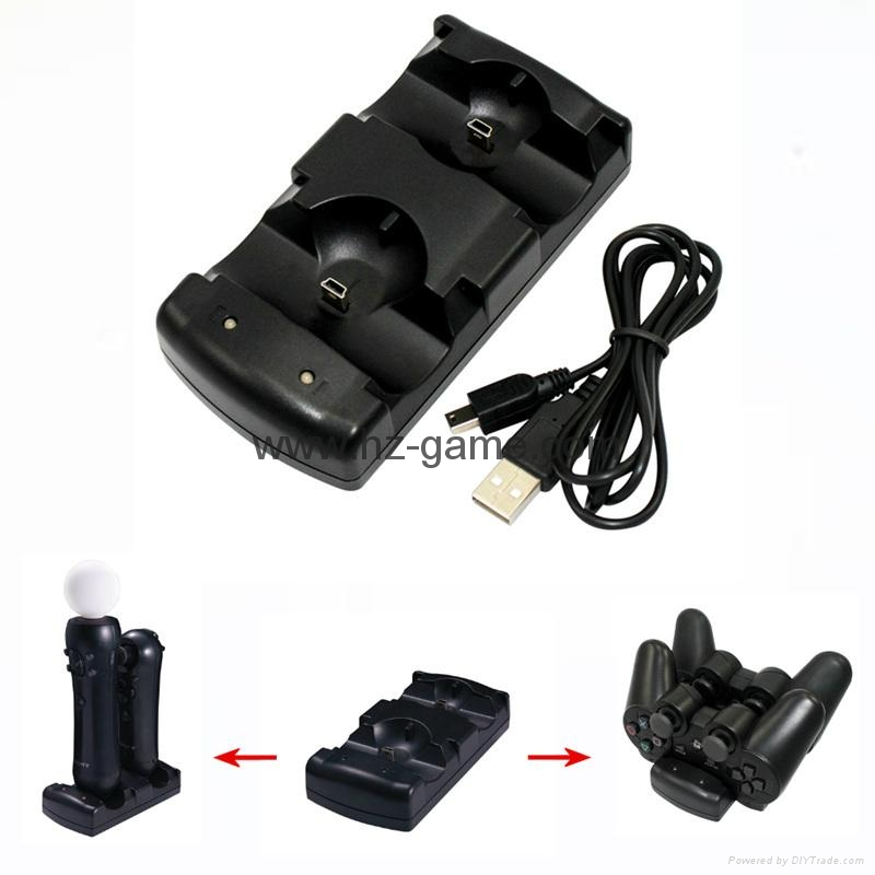 2in1 Dual charging dock charger for Sony PS3 MOVE,PS3 HARD DISK DRIVE