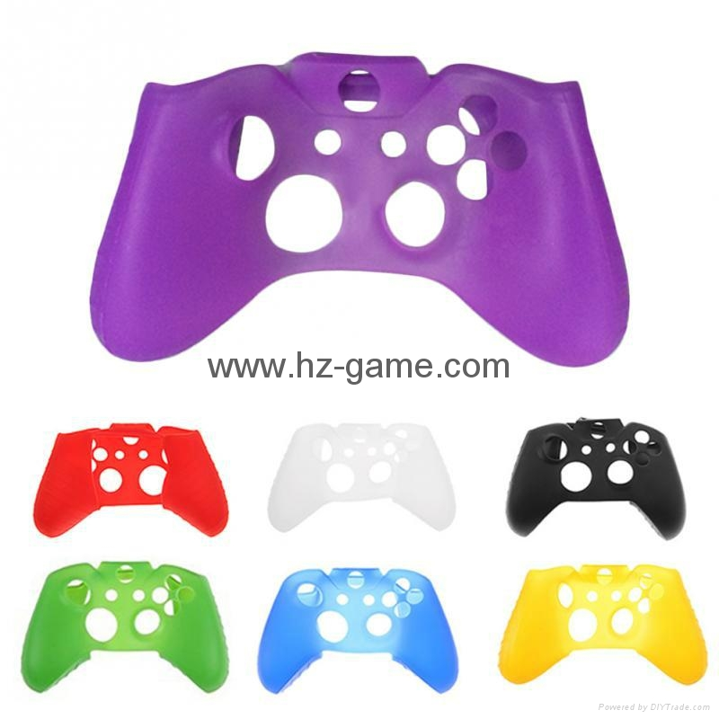 New Gamepad case Soft Silicone Rubber Protective Skin Case Cover Free Skull Caps 4