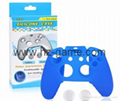 New Gamepad case Soft Silicone Rubber Protective Skin Case Cover Free Skull Caps 5