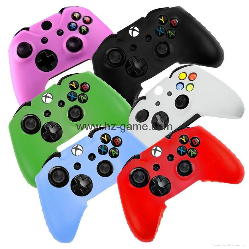 New Gamepad case Soft Silicone Rubber Protective Skin Case Cover Free Skull Caps 1