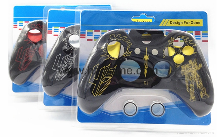 New Gamepad case Soft Silicone Rubber Protective Skin Case Cover Free Skull Caps 2