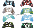 New Gamepad case Soft Silicone Rubber Protective Skin Case Cover Free Skull Caps 7