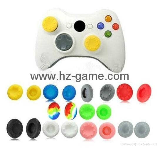 New Gamepad case Soft Silicone Rubber Protective Skin Case Cover Free Skull Caps 10