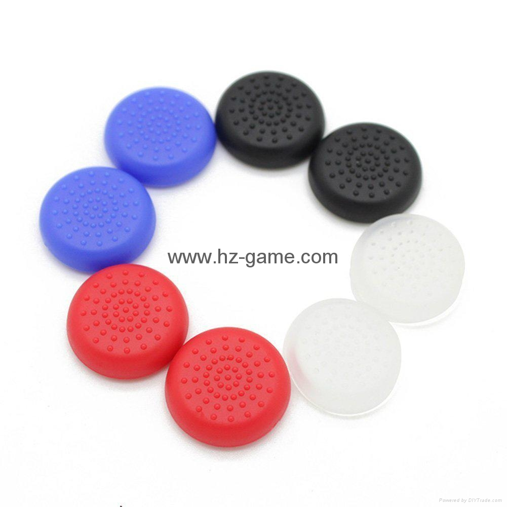 New Gamepad case Soft Silicone Rubber Protective Skin Case Cover Free Skull Caps 15