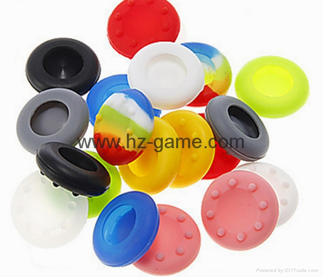 New Gamepad case Soft Silicone Rubber Protective Skin Case Cover Free Skull Caps 17