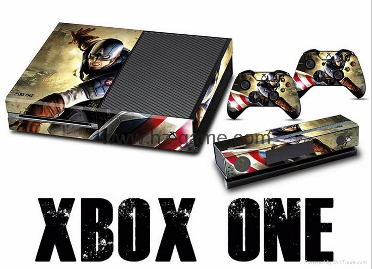 熱賣 新款!XBOX ONE貼紙 炫彩貼 全身貼 手柄保護貼 痛機貼 XBOX ONE skin sticker 1