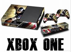 热卖 新款!XBOX ONE贴纸 炫彩贴 全身贴 手柄保护贴 痛机贴 XBOX ONE skin sticker