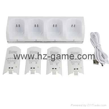 wii u / wii LED light Remote Controller Dual Charging Dock,wii ac adapter 3