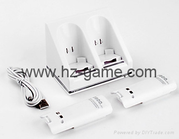 wii双电池座充 Wii电池 Wii手柄电池 Wii充电器 Wii手柄充电器 1