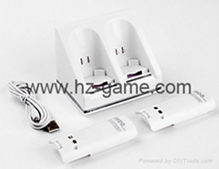 wii双电池座充 Wii电池 Wii手柄电池 Wii充电器
