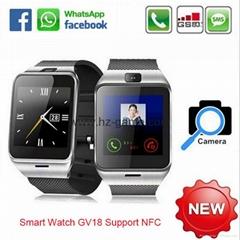 外貿熱銷款DZ09智能手錶可插卡通話計步 QQ微信收音