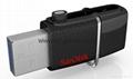 廠家直銷閃迪  高速OTG USB3.0手機U盤 安卓手機電腦迷你優盤 2