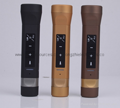 新款 手电筒蓝牙音响FM多功能户外礼品手电筒移动电源