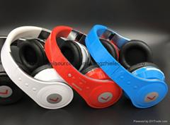 新款多功能折疊頭戴式立體聲藍牙耳機批發 重低音插卡藍牙