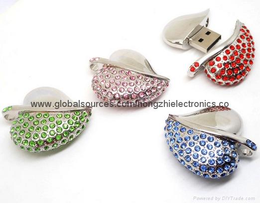 新款发光情侣钻石透明水晶U盘 8G 16G 32G 64G 批发 7