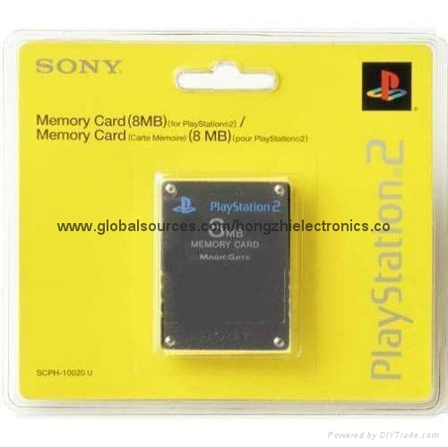 SONY ps2 Memory Card 8Mb  16MB,64MB,128MB,256MB for Playstation 2 PS2 Black 1