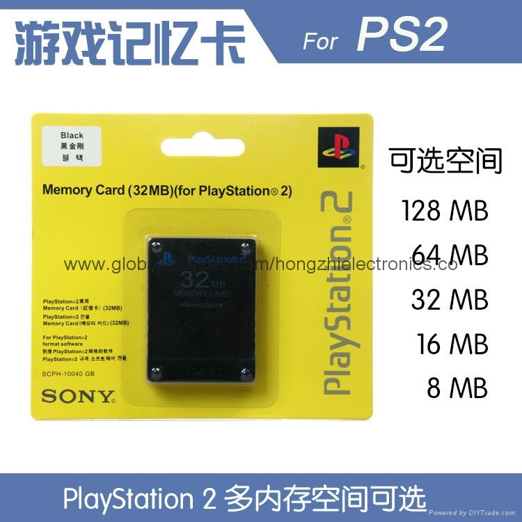 SONY ps2 Memory Card 8Mb  16MB,64MB,128MB,256MB for Playstation 2 PS2 Black 2