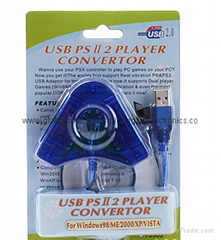 usb ps2 player  converter for PS2 for PSX to PC USB CONTROLLER ADAPTER CONVERTER