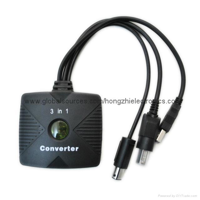 PS2手柄USB轉接口 PS2遊戲手柄轉換器 PS2有線手柄轉PC轉換器電腦 10