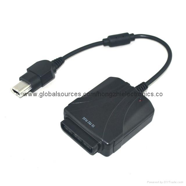 PS2手柄USB轉接口 PS2遊戲手柄轉換器 PS2有線手柄轉PC轉換器電腦 7