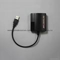 PS2手柄USB轉接口 PS2遊戲手柄轉換器 PS2有線手柄轉PC轉換器電腦 6