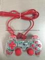 ps2 彩色透明有線手柄 PS2雙振透明彩色手柄 PS2彩色手柄 PS2透明手柄 8