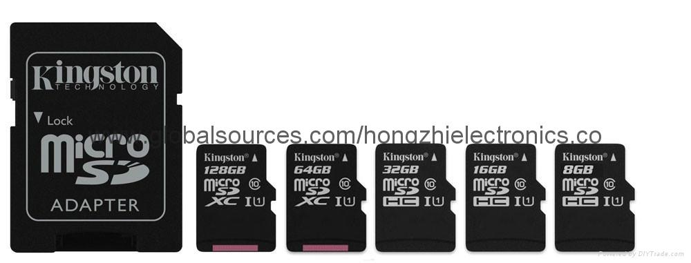 批发金士顿手机内存卡 TF卡 4G 8G 16G 32G 64G Micro SD卡 正品 7