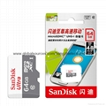Sandisk/閃迪 16G 高速TF卡 CLASS10存儲microSD卡 手機內存卡SD內存卡,TF內存卡 10