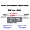 SanDisk Memory Card 32GB16gb microsd Flash TF Card SDXC with Card Adapter 11
