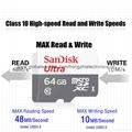 Sandisk/閃迪 16G 高速TF卡 CLASS10存儲microSD卡 手機內存卡SD內存卡,TF內存卡 11