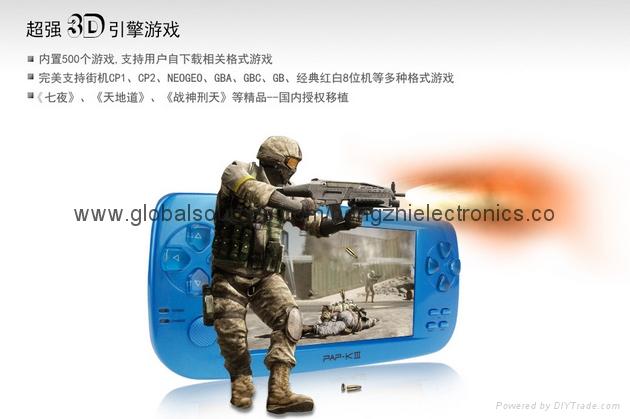 PAPK3 遊戲掌機 MP5儿童遊戲機 經典掌上遊戲機 64位遊戲 5