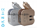 new British regulatory tablet / smartphone combo charger car charger