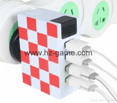 Hot new multi-interface USB port Travel Charger Travel Charger Charger