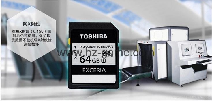 东芝SD卡16GB32G class10 EXCERIA SDHC C10 读95M写60M 高速单反相机 7