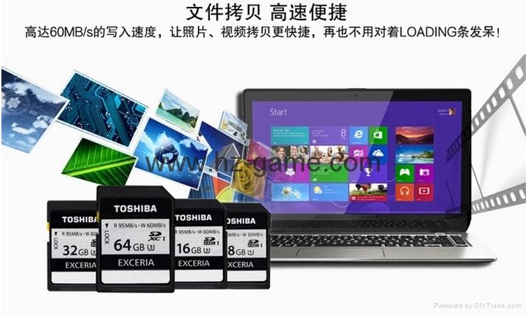 东芝SD卡16GB32G class10 EXCERIA SDHC C10 读95M写60M 高速单反相机 12