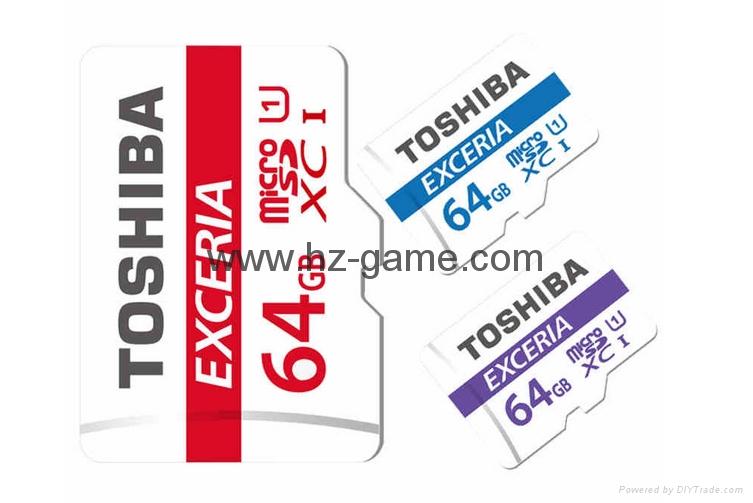 东芝SD卡16GB32G class10 EXCERIA SDHC C10 读95M写60M 高速单反相机 1