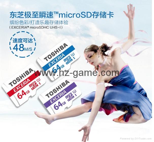 Toshiba SD Card 16GB 32GB64GB class10 EXCERIA SDHC C10 Memory Card 17