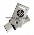 HP惠普 手机u盘16GB/32GBType-C双接口 x5000m 金属旋转优盘 5