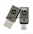 HP惠普 手机u盘16GB/32GBType-C双接口 x5000m 金属旋转优盘 11